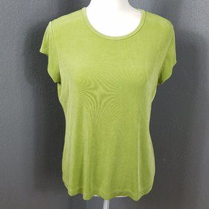 Chico's Size 2 M Travel Knit Short Sleeve T Shirt